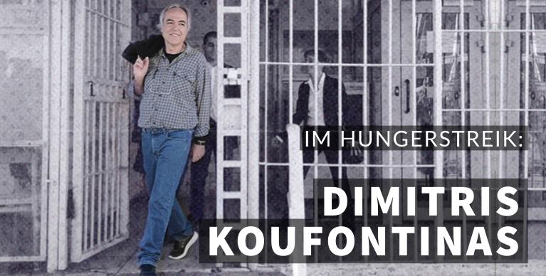 Inhaftierter revolutionär Dimitris Koufontinas im Hungerstreik